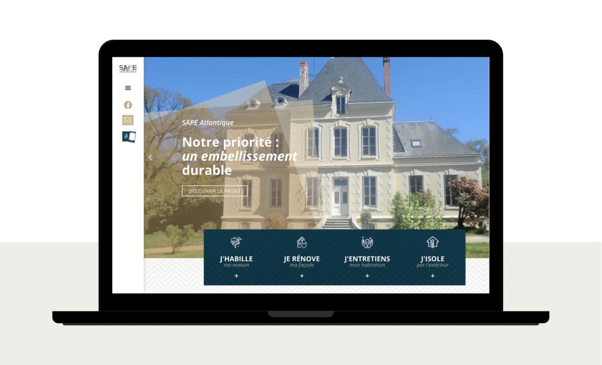 Nouveau site web - Actualités - Sape Atlantique
