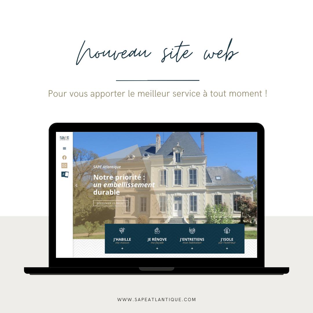 Nouveau site web - Sape Atlantique -
